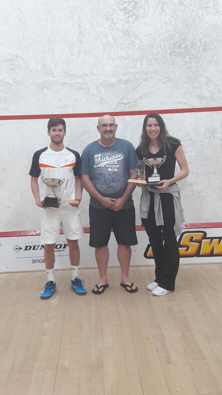 2018 Open Winners - Joelle King Evan Williams